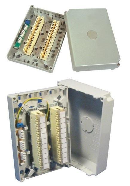 Cable Distribution Box : Uk type cable distribution box pairs srew lock fiber