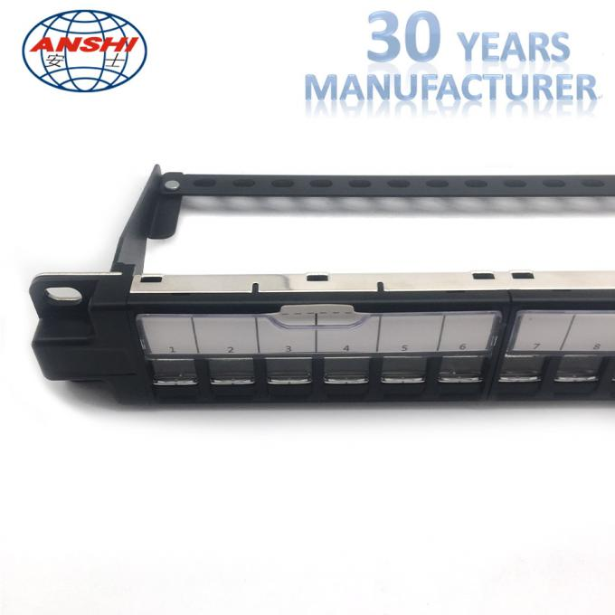 ANSHI Unloaded Rack Mount Patch Panel 24 Ports STP Shielded Toolless