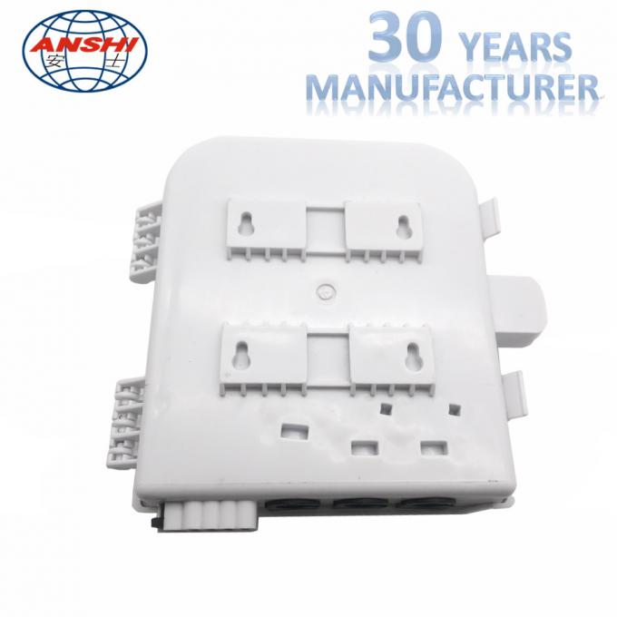 Wall Mount Fiber Distribution Box 8 Core With Plc Splitter Waterproof Outdoor Fat Box