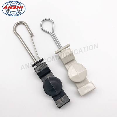 China FTTH Distribution Box ANSHI FTTX S Type Stainless Steel S Type Fasteners Dead End Clamp supplier