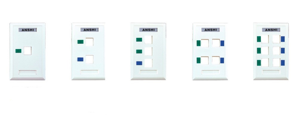 Single Port    Double Port Network Cable Faceplate Rj45