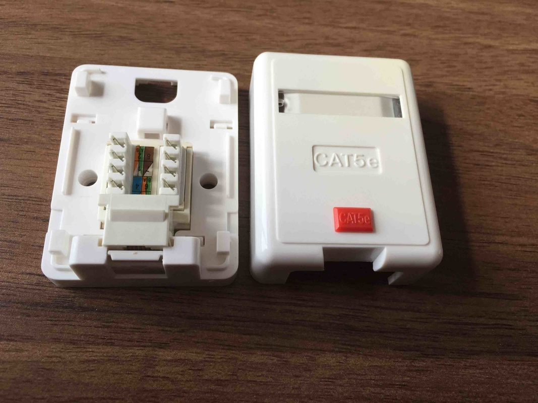 Rj45 Keystone Jack Single Port Surface Mount Box With High Impact Wall Ethernet Wiring Diagram Also Neat Patch Cable Housing