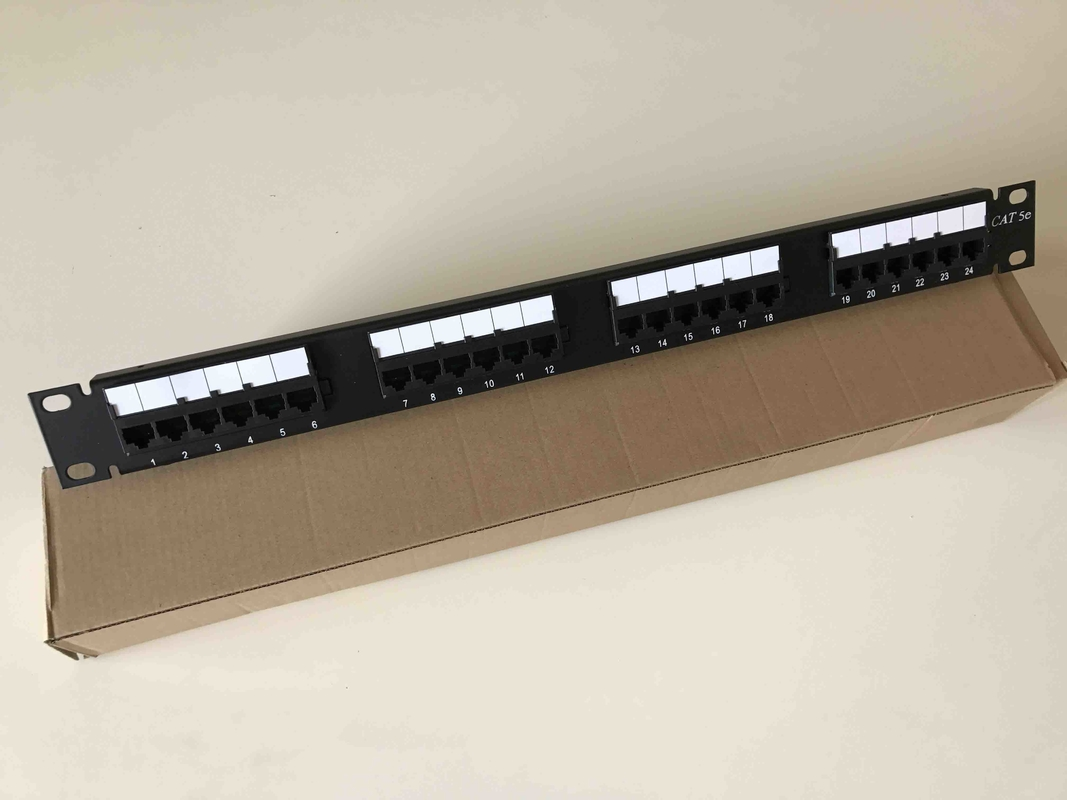 19 110 Idc Utp Unshielded Rack Mount Patch Panel 24 Port Cat5e With Cable Management Together Cord Cat 6