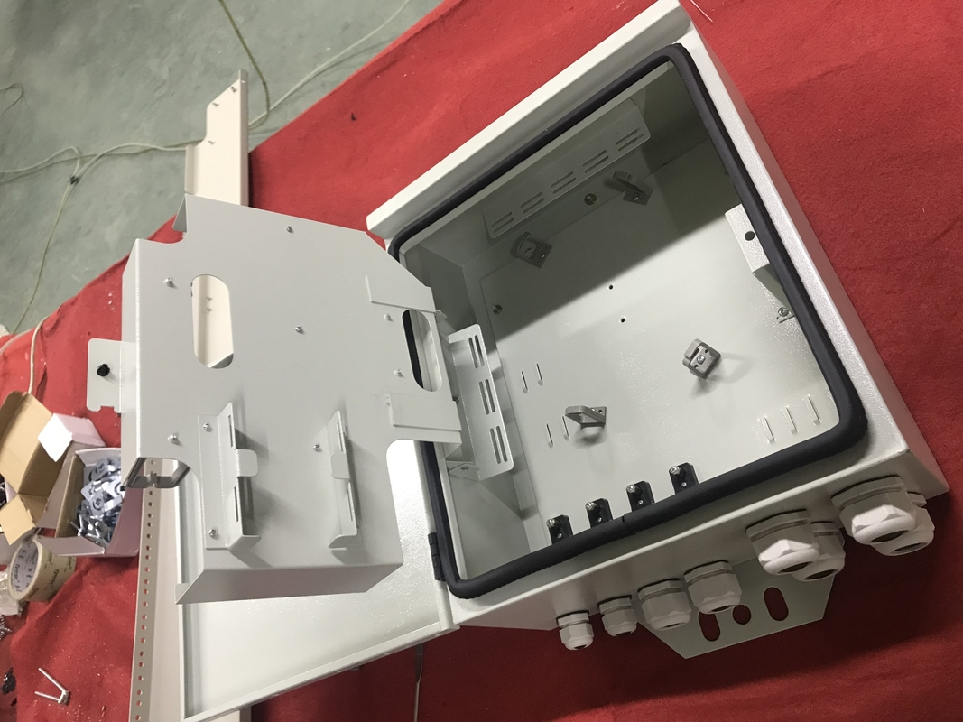 Metal 48 Port Fiber Optic Terminal Box / Waterproof Fiber Optic Termination Box