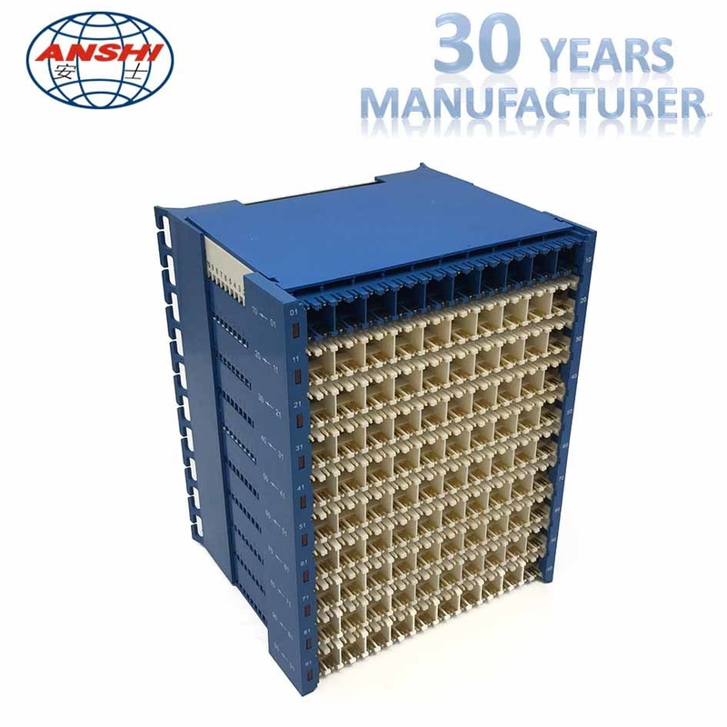 High Density MDF Main Distribution Frame Horizontal Type With 100 Pairs Capacity