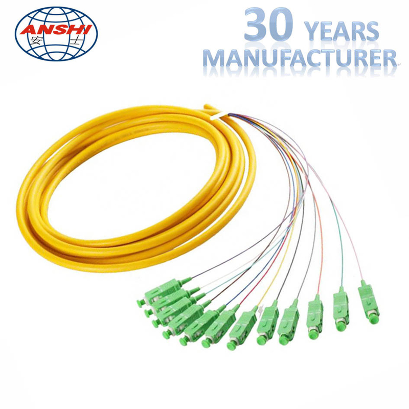 MPO Fiber Optic Patch Cord 12 core cable connection for cable expanding