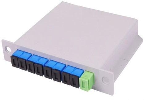 8 Way FTTH Distribution Box 1 * 8 Insertion Type Fiber Optic PLC Fiber Optic Splitter