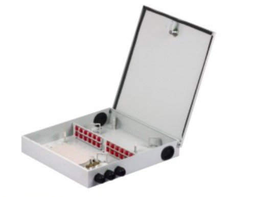 24 Cores Fiber Optic Distribution Box , Outdoor Waterproof Terminal Box