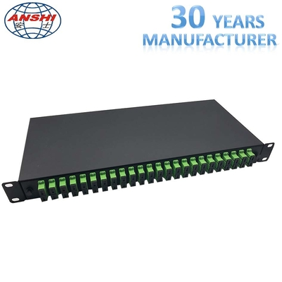 19 Inch Rack Mount Type SC / APC ODF Optical Distribution Frame with Pigtail Fiber Optic Patch Panel