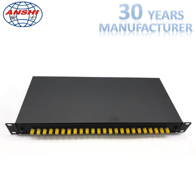 China ST Simplex And Pigtail Rack Mount Fiber Optic Patch Panel 24 Ports Fixed Type factory