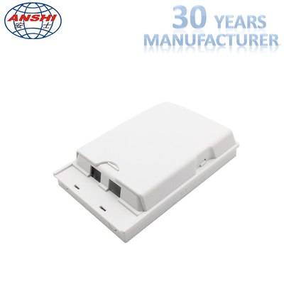 FTTH Fiber Optic Distribution Box 2 Cores Wall Mount Termination Box Slide Box