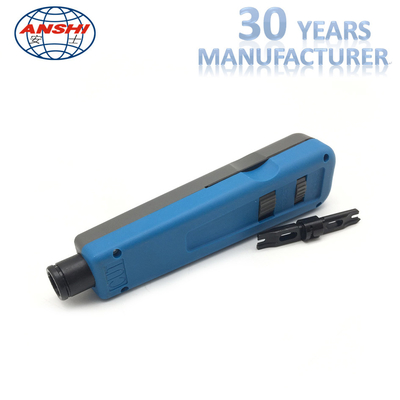 China ANSHI Impact And Punch Down Tool For 110 Wiring Block Rack Mount Blue Color factory