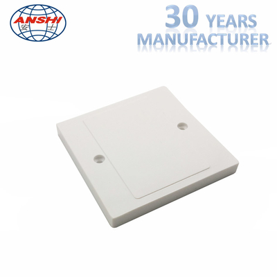 China Blank Panel Socket Cover Plate ABS / PC Material For Telephone / Workstation OEM factory