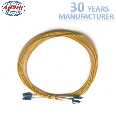 G652D Single ModE LC - LC UPC Type Optical Fiber Patch Cord Duplex