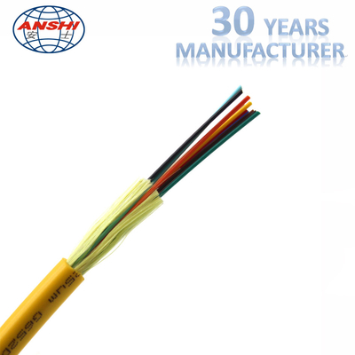 China Indoor Distribution Fiber Optic Accessories GJFJV Fiber Optic Cable LSZH Yellow Sheath factory