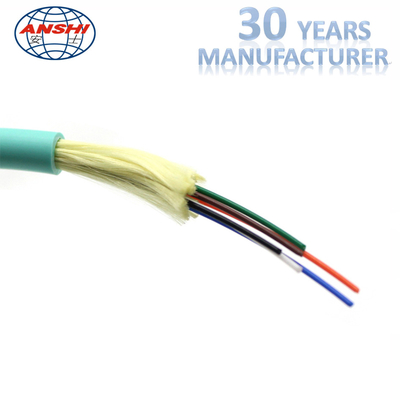 China Single Mode Fiber Optic Accessories OM3 GJFJV 6 Core LSZH Jacket Material factory