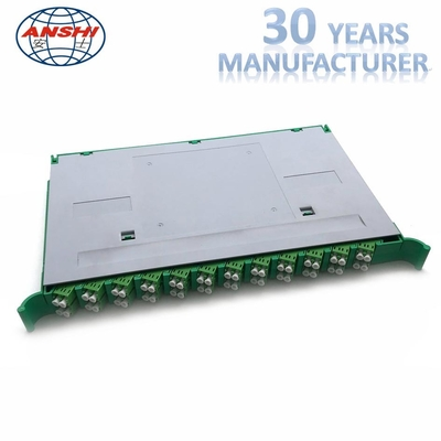 24 Cores 2 Layer Ethernet Distribution Panel High Density Splice Tray Abs Material