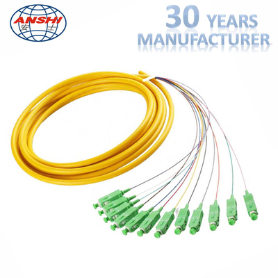 China MPO Fiber Optic Patch Cord 12 core cable connection for cable expanding factory