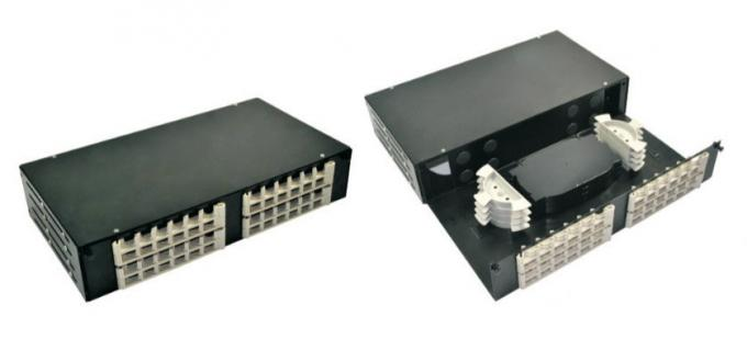FTTH Fiber Optic Terminal Box , Drawer Type Rack Mounted Optical Distribution Panel